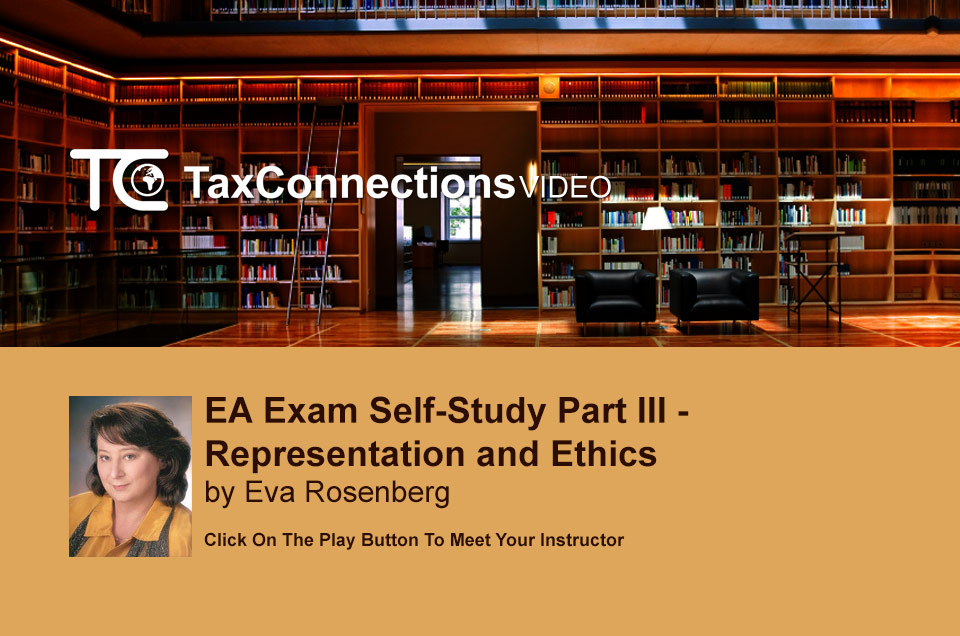 EA Exam  Self-Study Part III - Representation and Ethics