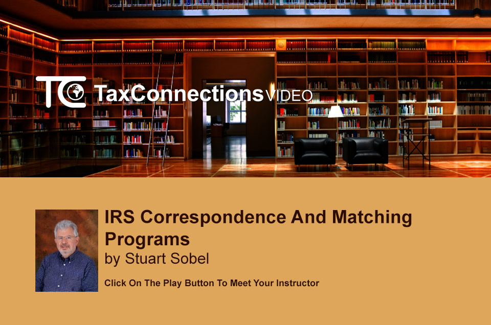 IRS Correspondence and Matching Programs