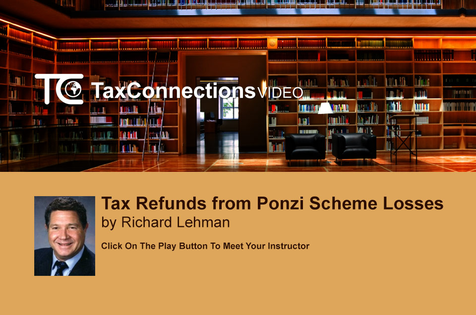 Tax Refunds from Ponzi Scheme Losses