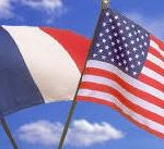 French And US Flag