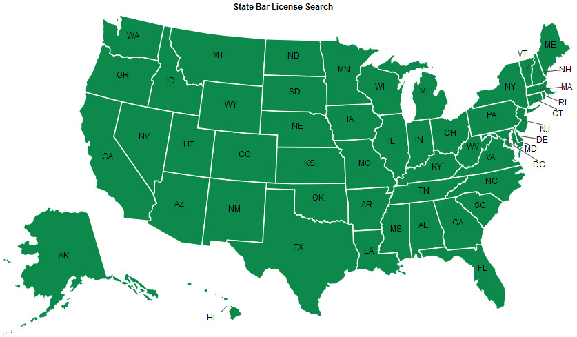 TaxConnections State Bar License Search Interactive Map