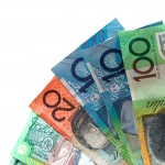 A pile of Australian banknotes