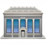 Bank building. Vector illustration. Eps 10.