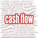 Cash flow word cloud image with hi-res rendered artwork that could be used for any graphic design.