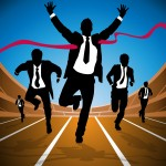 TaxConnections Picture - Man - Businessman Crossing Finish Line - square