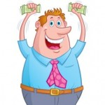 TaxConnections Picture - Man with Money - Cartoon - square