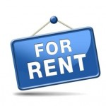 For rent sign, renting a house apartment or other real estate sign. Home to let icon.
