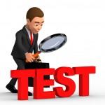 successful businessman considers test