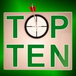 Top Ten Target Means Successful Achievement