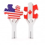 TaxConnections Picture - USA and Canada Puzzle Pieces 2 - square