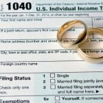 TaxConnections Picture - Wedding Rings and Tax Form - square