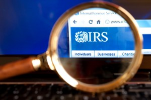 TaxConnections Picture - IRS Magnifying Glass