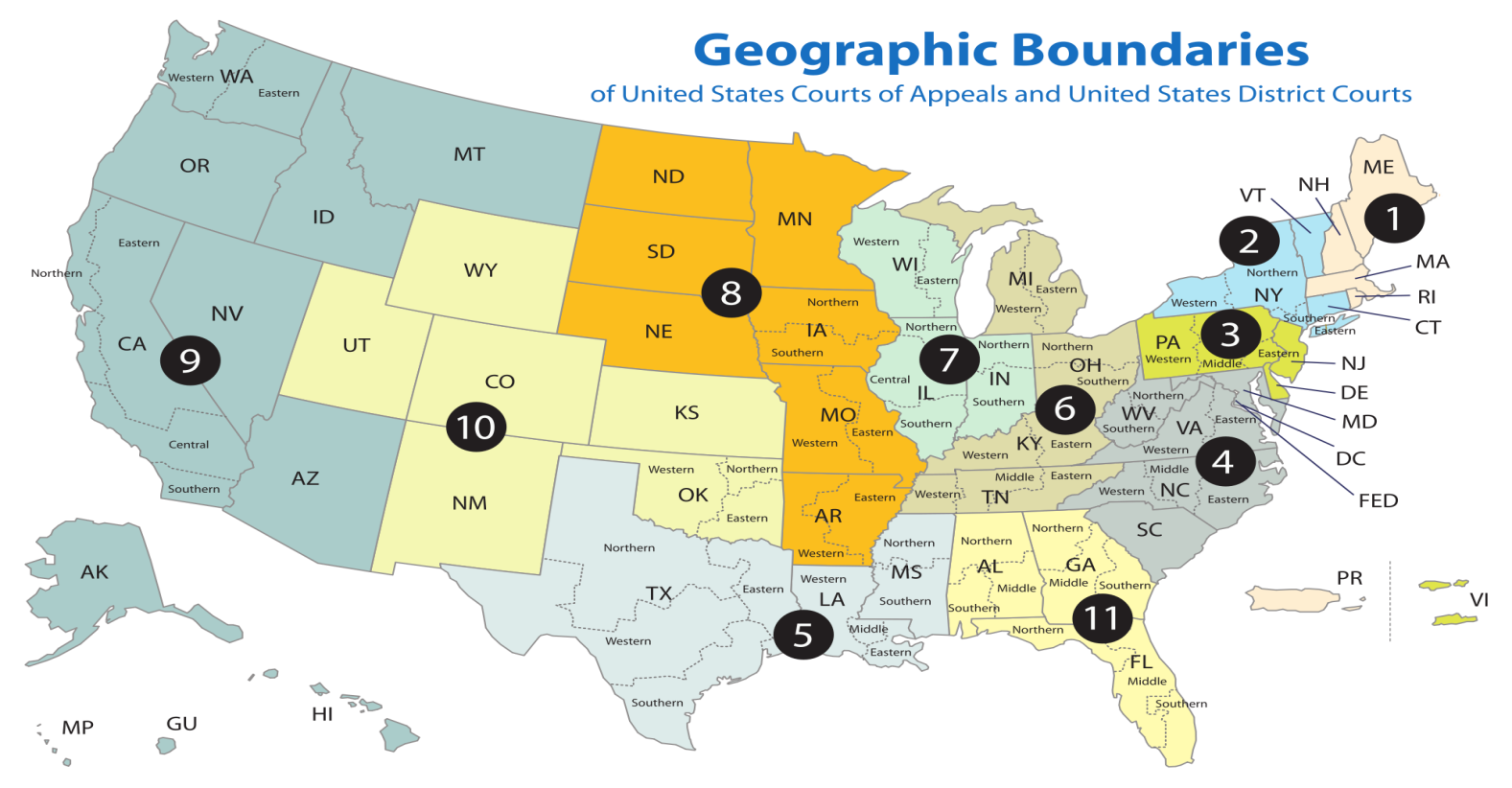 Geographic Boundaries, Court of Appeals, District courts, Tax Research, R&D Tax Credit