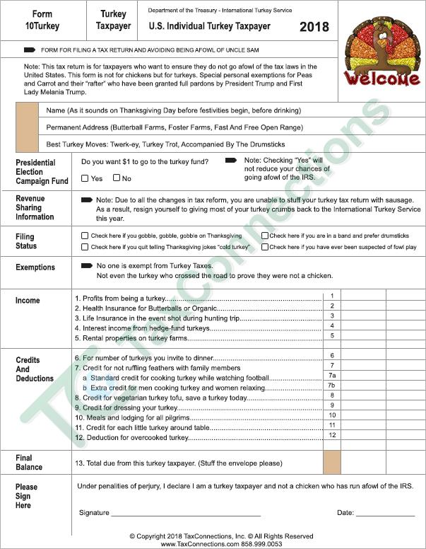 Fun Tax Forms